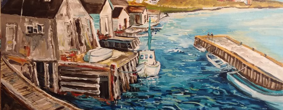 Acrylic Landscape Painting focus on Canadian Artists
